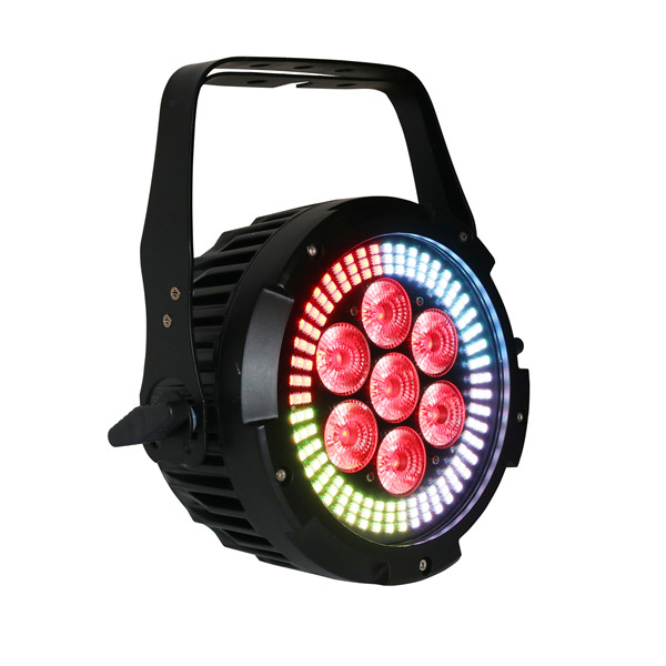 BY-6107S 7X12W RGBWA+UV 6in1 LED+ 144X0.2W RGB 3in1 LED PAR Light ( Outdoor Version optional)