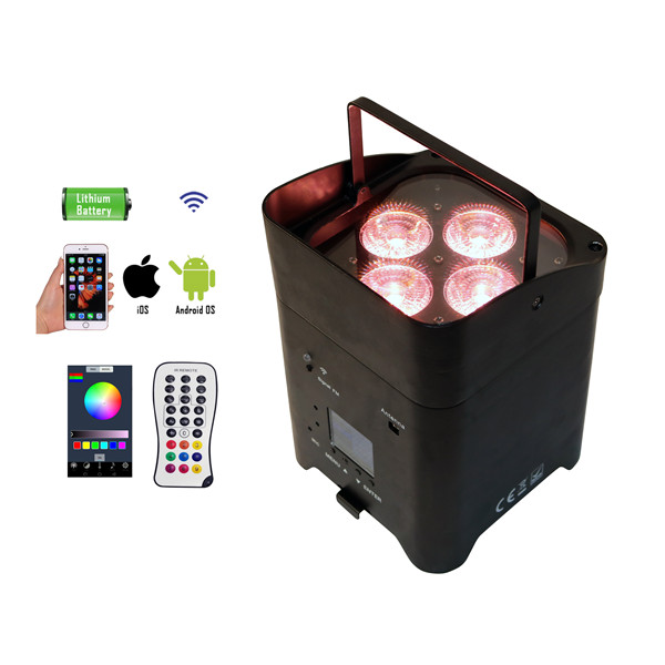 BY-864A 4pcs 4in1/5in1/6in1 LED wireless battery powered uplights with smartphone APP control