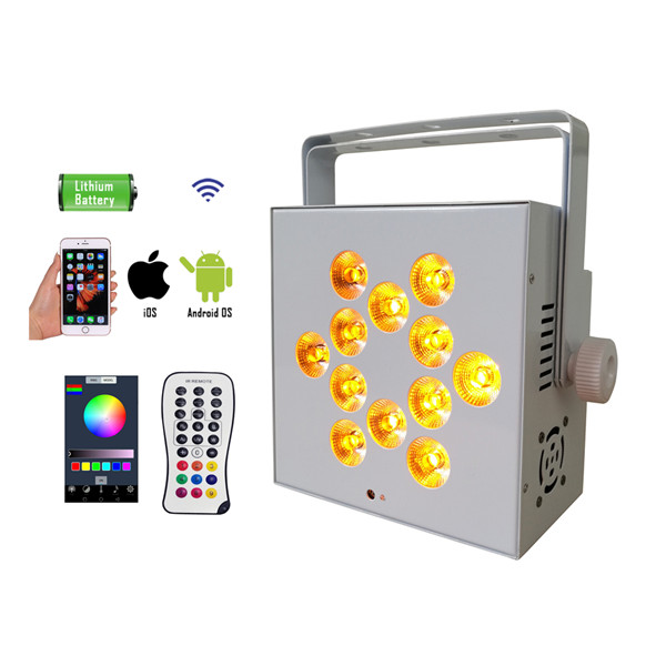 BY-842W 12pcs 4in1/5in1/6in1 led wireless battery powered uplights (Wifi control optional)