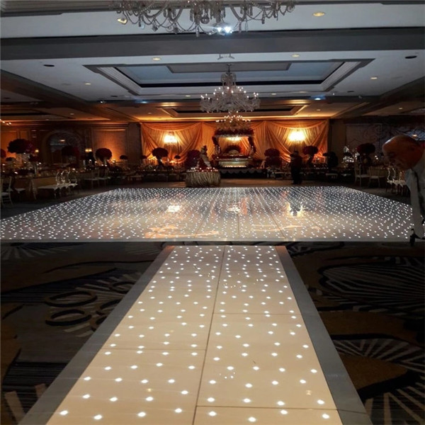 BY-D726 wedding video acrylic starlit led dance floor