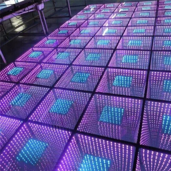 BY-D727 wireless 3d led infinity mirror dance floor