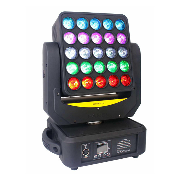 BY-9025 25X12W RGBW 4in1 Matrix Beam LED Moving Head Light