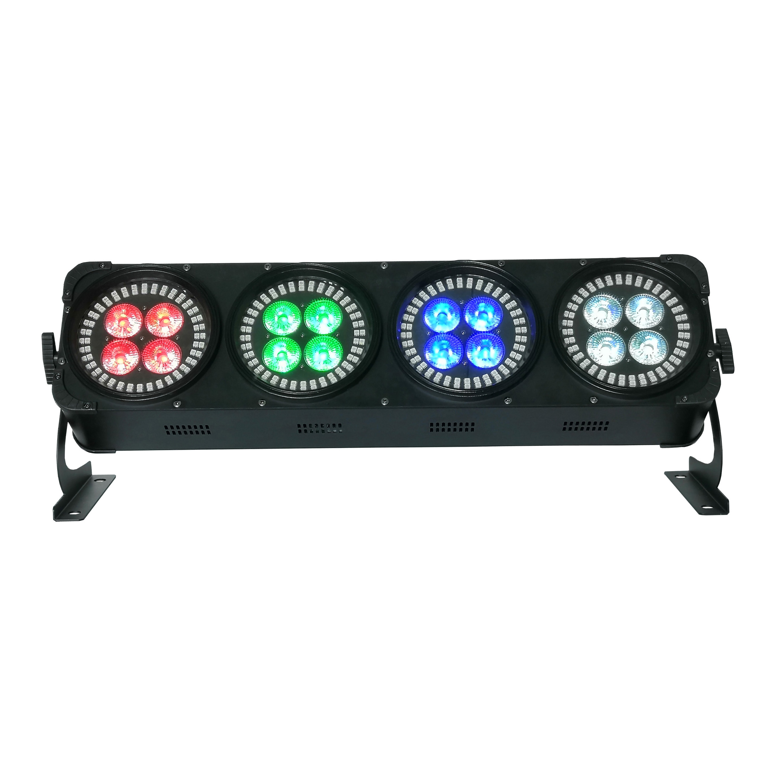 BY-6316A 4 Heads 16X12W 6in1 LED+288X0.2W RGB 3in1 LED Wash Light