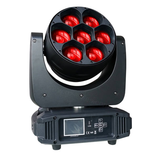BY-9740Z 7X40W RGBW 4in1 LED Zoom Moving Head Light