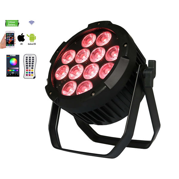 BY-842A IP65 12pcs 4in1/5in1/6in1 LED outdoor waterproof wireless battery powered uplights